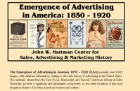 Emergence of Advertising in America: 1850-1920