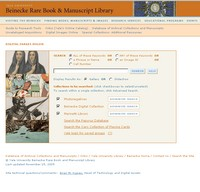 The Beinecke Rare Book and Manuscript Library Digital Collections